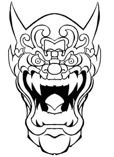 oni mask by on @ will 2 Oni Mask, Skull Mask, Oni Tattoo, Demon Drawings, Etch A Sketch, Japanese Tattoo Designs, Art Inspiration Drawing, Dominique, Animal Masks