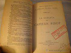 ANTIGUO LIBRO EN PIEL P.P. S.XX AÑO 1923 LA ALEGRIA CAPITAN RIBOT FABRICA TABACO ALICANTE PAG. 297
