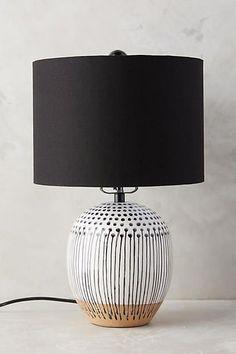 Anthropologie Uteki Painted Lamp Ensemble