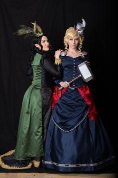 Victorian Thor and Loki Loki Cosplay, Epic Cosplay, Awesome Cosplay, Cosplay Ideas, Costume Ideas, Cosplay Costumes, Steampunk Costume, Fantasy Costumes, Super Hero Costumes