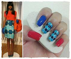 "BLUE DOTS INSPIRED IN AN OUTFIT **FOR DETAILS FOLLOW MY BLOG OR DO ""LIKE"" TO MY FACEBOOK, would be great!! All comments are welcome!!! https://www.facebook.com/glamstylenailsbycarolina **"