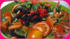 No gluten! Yes vegan!: Insalata con more e basilico