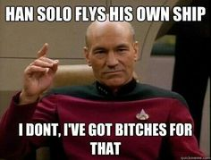 Han Solo flys his own ship...