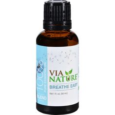 Via Nature Essential Oil Blend - Breathe Easy - 1 fl oz
