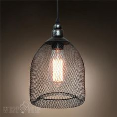 Westmenlights Industrial Rustic Metal Mesh Pendant Light Ceiling Lamp Shade…