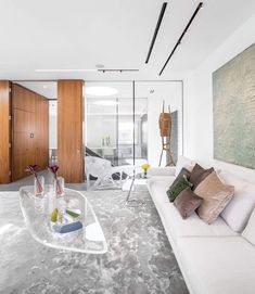Three floors penthouse in London for a young art-collector couple - CAANdesign   Architecture and home design blog
