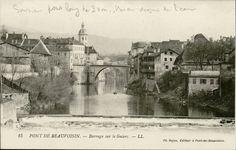 Pont de Beauvoisin «  Tous droits d'exploitation réservé - Archives départementales de la Savoie – Conseil général de la Savoie. Pour toute utilisation s'adresser aux archives départementales de la Savoie : www.savoie-archives.fr »