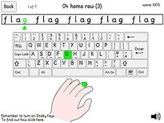 This activity will guide a person who is effectively single handed user through learning an efficient typing method. It is important that users, their fami