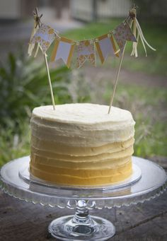 Yellow ombre cake.