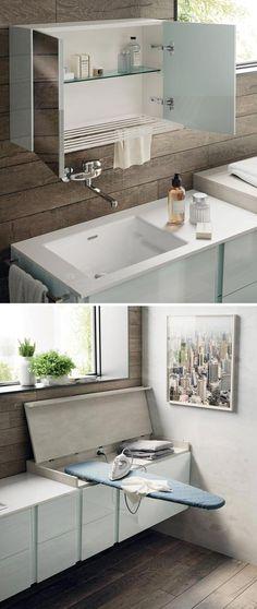 """Dal mini lavabo alla vasca salvaspazio, passando per il box doccia """"pieghevole"""": una selezione di soluzioni per il bagno piccolo."""