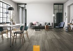 FAP Ceramiche is a tile company manufacturer from Italy offering floor and wall tiles for all the requirements in architecture and interior design. Interior Styling, Interior Design, Nordic Design, Home Theater, Natural Wood, Sweet Home, New Homes, Flooring, Living Room