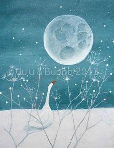 The Moon and Me  -  Jules @ Juju & Bubba Art & Illustration