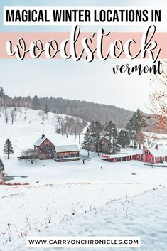 New England Day Trips, New England Travel, Vermont Winter, Woodstock Vermont, Family Vacation Spots, Winter Destinations, United States Travel, Winter Travel, Outlines