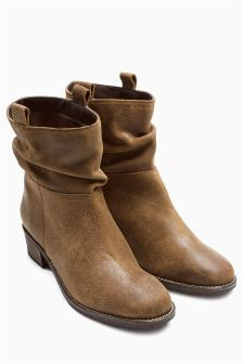 Buy Square Toe Slouch Ankle Boots from the Next UK online shop ...