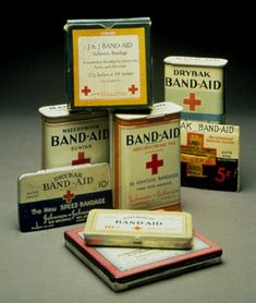 The band-aid was invented in 1921 by Earle Dickson. He created the band-aid because his wife was always cutting her fingers while making food.