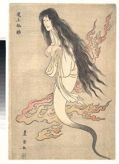 Utagawa Toyokuni I: Onoe Matsusuke as the Ghost of the Murdered Wife Oiwa, in