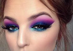 Amazing eye makeup - these colours are amazing x