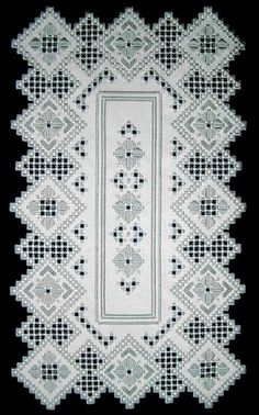 Hardanger Embroidery Design See the pretty Antique Rose Runner in Hardanger at Nordic Needle