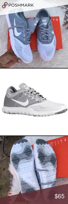NIKE WOMENS grey/white trainers shoes Sz 7 new NIKE WOMENS grey/white trainers shoes Sz 7 new box is missing a lid! 100% authentic itemcloset#treth Nike Shoes
