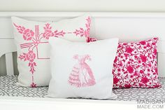 DIY vintage inspired pillows