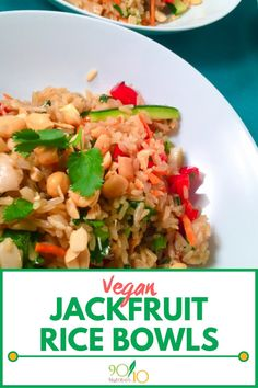 While fresh jackfruit is an acquired taste, young green jackfruit has no distinct flavor. This vegan jackfruit dish is delish. Clean Eating Vegetarian, Vegan Clean, Vegetarian Recipes, Vegetarian Diets, Healthy Eating, Eating Vegan, Healthy Recipes, Jackfruit Dishes, Vegetarian Cabbage Soup