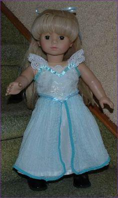 Frozen's Elsa Dress Patterns for 18 Inch Dolls - free pattern