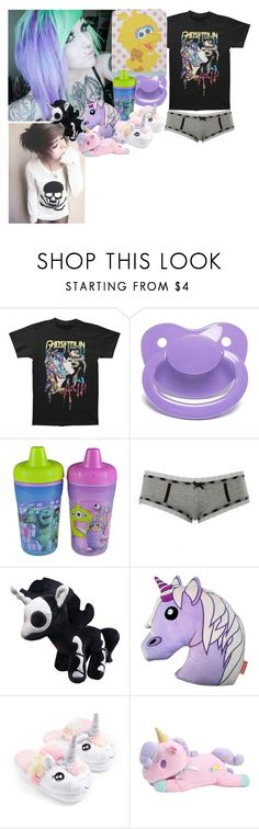 """""""mommy get what mommy wants"""" by hexgirl6672 ❤ liked on Polyvore featuring Sesame Street, Gerber, Charlotte Russe, Emoji and Topshop"""