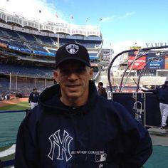 New York Yankees Manager Joe Girardi showing his Brooklyn Nets pride
