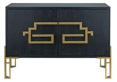 Image of Zhin II Sideboard design by Currey & Company Black Buffet, Black Sideboard, Dining Room Sideboard, Modern Sideboard, Wood Sideboard, Dining Room Furniture, Furniture Storage, Outdoor Furniture, Black Cabinet