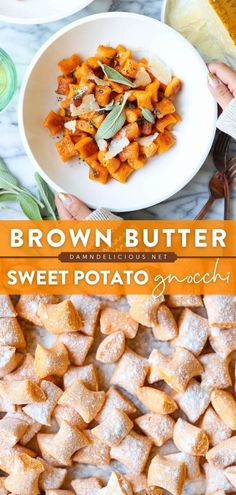 This from-scratch pasta recipe is so easy! With just 4 ingredients, you can have this sweet potato gnocchi served with epic brown butter. Nothing beats homemade! Serve this dinner idea this fall!