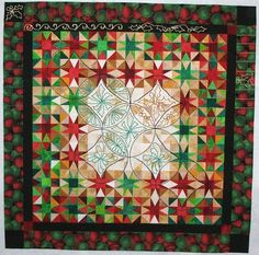 Isn't this beautiful??? McCall's Quilting November/December 2008.  Heavenly Light by Charlotte Angotti
