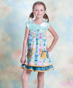Another great find on #zulily! Aqua Hot Air Balloon Sailor Dress - Infant, Toddler & Girls #zulilyfinds