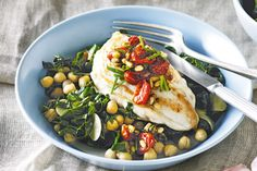 Go green with this tasty chicken recipe by adding more dark, leafy green vegetables for lots of vitamins and minerals.