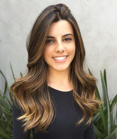Golden Brown Ombre Balayage