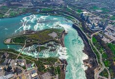 picture of niagara falls from above