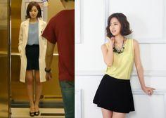 "Jin Se Yeon in ""Doctor Stranger"" Episode 13.   Black Flared Soos Skirt #Kdrama #DoctorStranger #JinSeYeon #진세연"