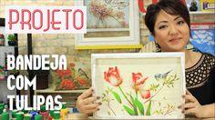 PROJETO | PINTURA COM STENCIL - BANDEJA COM TULIPAS | 06.04.17 | MAYUMI ...