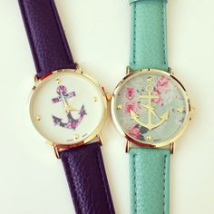 Floral Anchor Watch