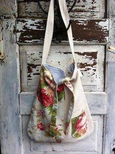 DIY bag - need to try this with my flowery fabrics