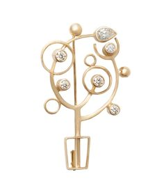 Hsieh I Ting...Brooch: Shining Tree......18k yellow gold, diamonds