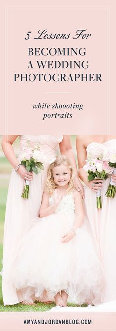 Here are 5 lessons for becoming a wedding photographer, that you can learn while shooting portraits.