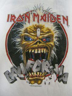 Vintage Tshirt - Iron Maiden - California 1988 Tour - Large VERY RARE #vintage #tshirts #ironmaiden | $499