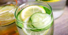 Recette de Eau détox drainante concombre et citron. Facile et rapide à réaliser, goûteuse et diététique. Ingrédients, préparation et recettes associées.