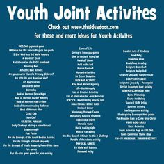 Activities and Combined Activities Mutual Activities After brief opening exercises, Young Women and Young Men activities are usually held separately. Class or quorum activities usually last 30 to Mutual Activities, Youth Group Activities, Young Women Activities, Youth Group Games, Youth Group Lessons, Youth Groups, Church Activities, Indoor Activities, Summer Activities
