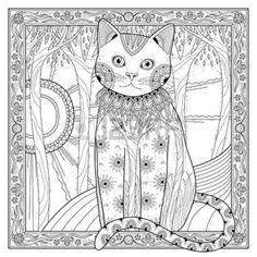 Coloriage Chat Blanc.228 Meilleures Images Du Tableau Coloriage Chat Animal Babies