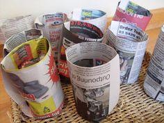 Slow Living Essentials: Newspaper seedling pots - no gadget required