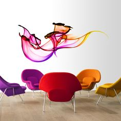 Swirling wall decal