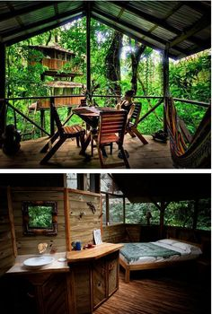 Finca Bellavista is a sustainable treehouse community in the middle of the Costa Rican Rainforest. People can zipline from house to house and they have Wi-Fi.