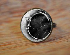 Sleeping Moon Ring