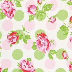 """Tanya Whelan Sugar Hill Falling Roses Laminate Fabric in Pink 54/56"""""""